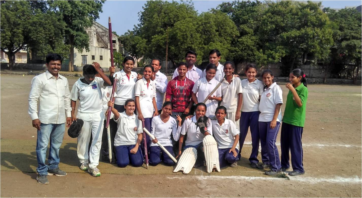 Girls Cricket Team District-Level Winners