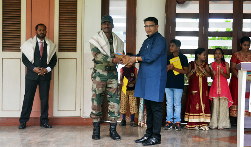 Felicitation Of  Indian Soldiers