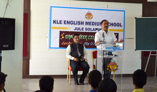 Mr.V.N Hukkeri (guest visited the school)